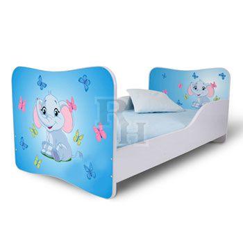 elefant_lepkekkel_kek_Noby kiságy, gyerekágy a kislányok szobájába